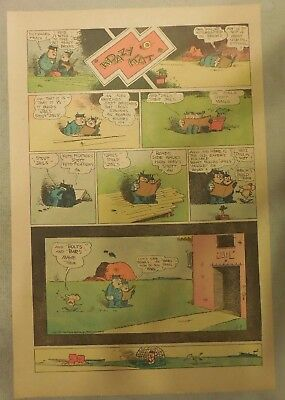 Krazy Kat Sunday by George Herriman from 1/9/1944 Tabloid Size Page Last Year!
