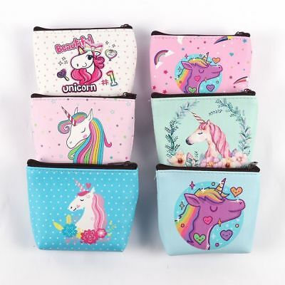 1x New Wallet Zip Coin Key Purse. Unicorn or Flamingo. Various Designs. 11x10cm
