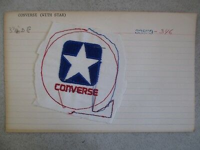 Unused Vintage Converse All Stars Red White & Blue Prototype Patch 69