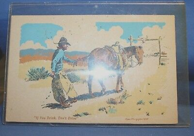 """Old Postcard """"If you Drink Don't Drive"""" by George Phippen"""