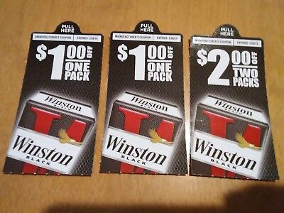 WINSTON Cigarette Coupon~ 3 Coupons~ $4 Savings ~newport marlboro pall mall kool