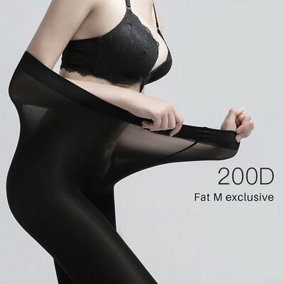 3a85b94aa7d60 Plus Size Tights 200D Elastic Velvet Winter Warm Thick Large Pantyhose  Stockings