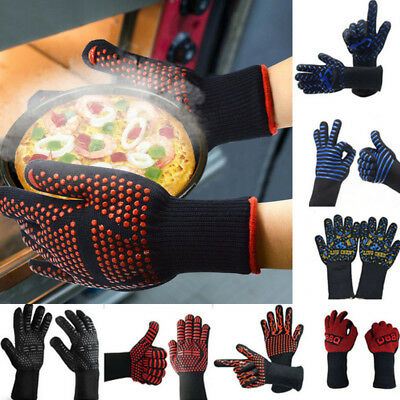 BBQ Grilling Cooking Gloves Extreme Heat Resistant Oven Welding Gloves Winter