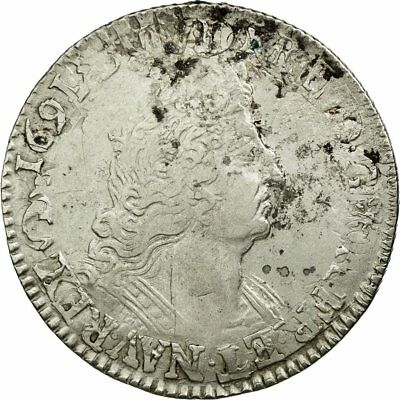[#512240] Monnaie, France, Louis XIV, 1/4 Ecu aux palmes, Date incertaine