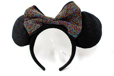 Disney Parks Minnie Mouse Headband Ears Sequin Costume Bow Hat