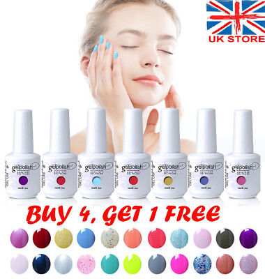 15ml Gelpolish Soak Off Gel Nail Polish Base Top Coat LED Art Manicure Varnish.