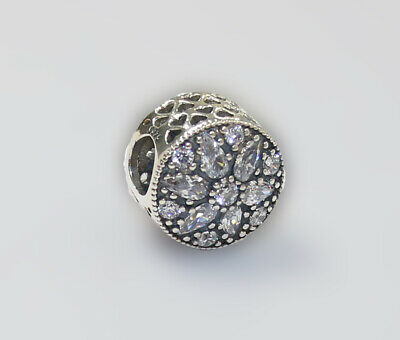 New Authentic Pandora Charm Radiant bloom Crystal 791762CZ W Suede Pouch