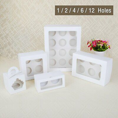 Cupcake Box 1 hole 6 hole 12 hole PET window Face Muffin Bombonie Wedding Party
