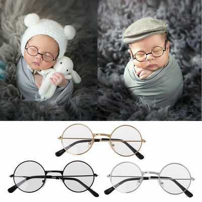 Newborn Baby Boy Girl Flat Glasses Photography Props Gentleman Studio Shoot