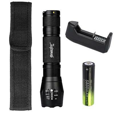 SKYWOLFEYE Zoomable 12000 Lm T6 LED Torch Police 5 Modes  Light Lamp LC