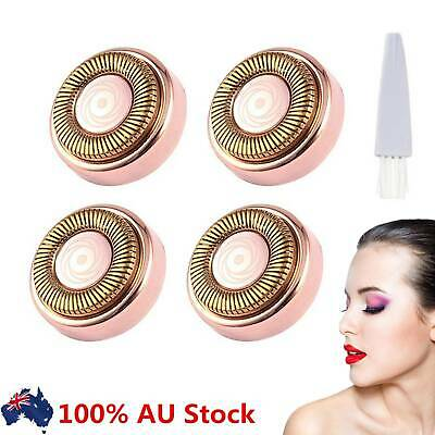4x Flawless Hair Remover Replacement Heads Count Replacing Blades AU