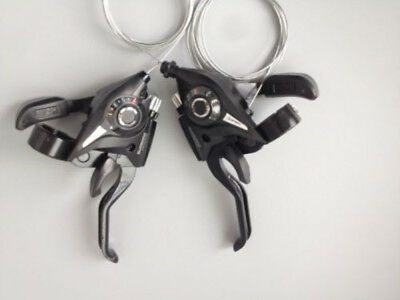 1pair MTB Bike 21/24 Speed Shift /Shifter Lever Set Fit For Shimano System Black