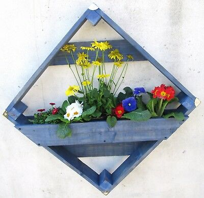 Quality Wooden Garden Patio Wall or Fence Planter Mounted - Plants, Flowers