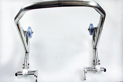 Racing Motorcycle Sport Rear Combo Wheel Lift Stands Paddock Stands CHROME