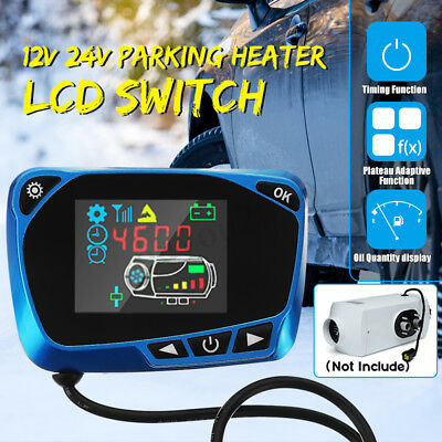 Car Truck Diesel Air Heater 5KW 8KW 12V/24V LCD Monitor Controller Switch