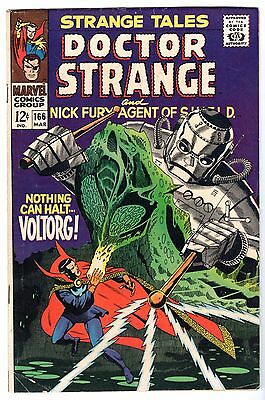 Strange Tales #166 with Dr. Strange & Nick Fury Agent of SHIELD, Fine - VF Cond'