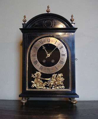 Fine Late 17Th C French Ebonised Religieuse Type Mantel Bracket Clock