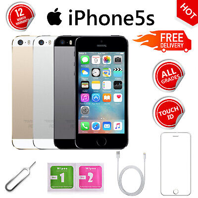Apple iPhone 5s 16GB 32GB Gold/Grey/Silver GSM Unlocked Mobile Smartphone
