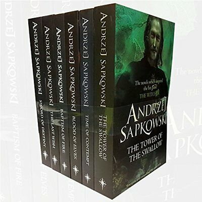 Witcher Series Andrzej Sapkowski Collection 6 Books Bundle With Gift Journal (Th