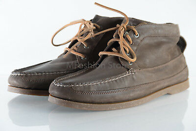 b0b21d96e34 SPERRY TOP SIDER Brown Mens Boat Shoes Leather Ankle Boots Size US 11.5M