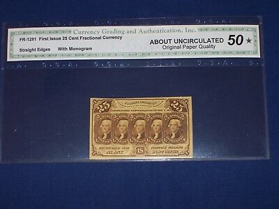 25c US Fractional Note. F4