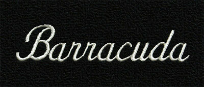 1964-1969 Barracuda Floor Mat 4pc in Black with Logo