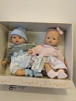 Nines d Onil Spanish Twin Dolls In A Presentation Box. Lifelike, Reborn