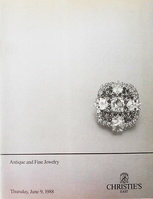 "Christies New York Auction Catalog ""Antique and Fine Jewelry"" 6/9/88 Great Shape"