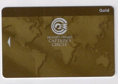 NEW Princess Cruise Line  Blank GOLD Cabin / Key / Account Card