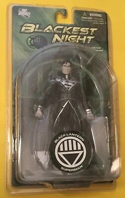"Blackest Night BLACK LANTERN SUPERMAN 6"" Action figure DC DIRECT UNIVERSE"