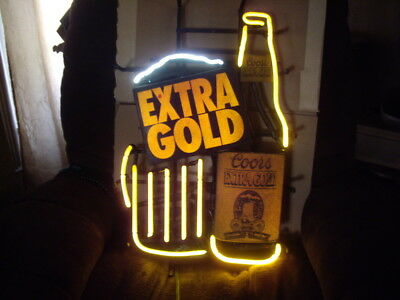 Vintage Coors Extra Gold neon light very rare