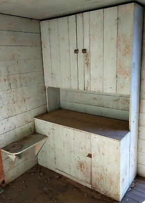 Primitive 1930s kitchen cabinet / cupboard from the Nevada High Desert