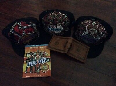 Uncle Drew (Blu-ray + DVD ) w/ free Lakers,clippers hats, leather wallet