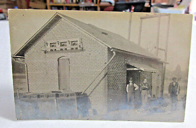1908 FORT WAYNE? Real Photo Postcard Power Station Interurban RY, Edmunds Elec.
