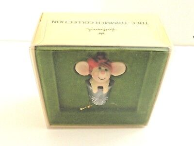 Vintage 1978 Hallmark Merry Mouse In Thimble Tree Trimmer Ornament Christmas Vh