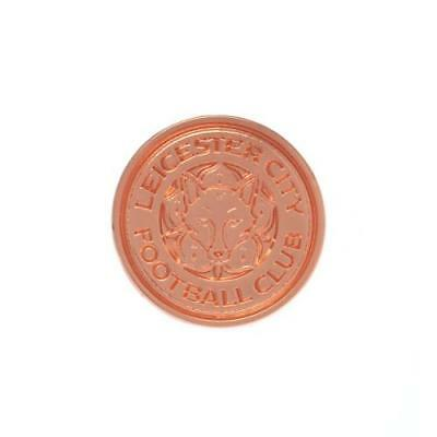 Leicester City F.C. Rose Gold Plated Badge Official Merchandise