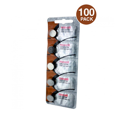 Maxell SR1130W SR54 SG10 389 Silver Oxide Watch Battery (100 Pack)