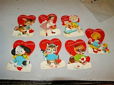 Lot of 6 Vintage Unused NORCROSS Stand Up Type Valentine Cards