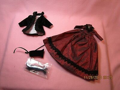 Madame Alexander Megs red stripe trunk outfit for Cissette & Tiny Kitty