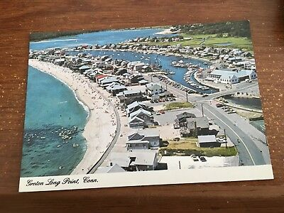 1960s Aerial View of Groton Long Point, CT Postcard