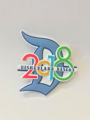 Disneyland Resort Exclusive Dated 2018 Big D Magnet DLR The Year To Be Here New