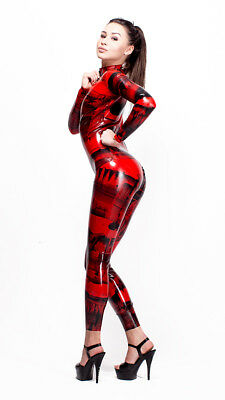 Patterned Latex Rubber Catsuit Easy-On (Chlorinated)