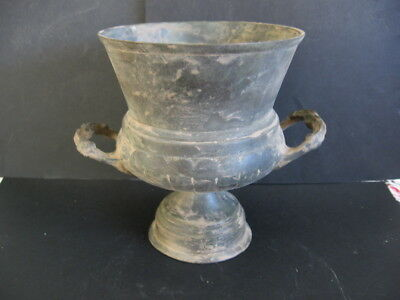 ANCIENT CELTIC BRONZE ENGRAVED RITUAL GOBLET CUP 300-100 BC. 10,8 cm