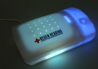 Regen Hearing Aid Dryer UV-C Disinfection Dry Box and Dehumidifier Cleaner Case