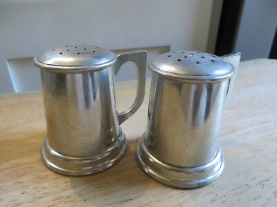Stieff Pewter Salt and Pepper Shakers 2 1/2 inches tall