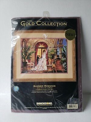 Dimensions gold collection needlepoint kit summer romance 2493 brand new sealed