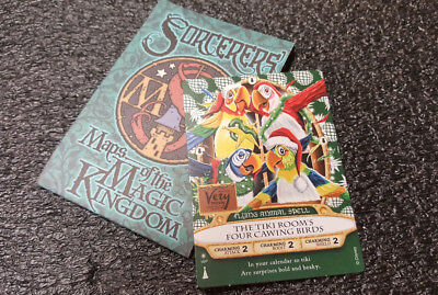 Disney Very Merry Christmas 2018 Sorcerers of The Magic Kingdom Card TIKI ROOM