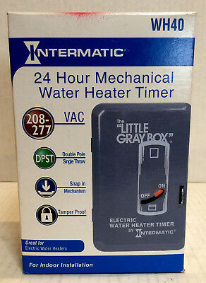 Intermatic WH40DL3 40A  Water Heater Timer The Little Grey NEW