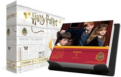 2019 Harry Potter Desk Calendar Daily Day to Day Ron Hermione Poster Gift