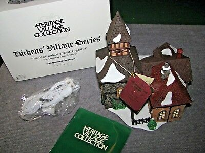"""Vintage Dept 56 Dickens Village """"The Olde Camden Town Church"""" #58346 Christmas"""